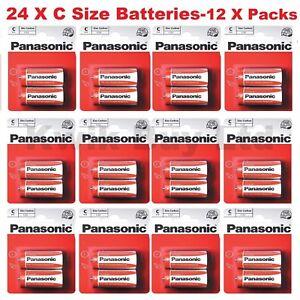Pack of 24 Panasonic ' C ' Size R14 Zinc Carbon 1.5 V Battery - Full Box New