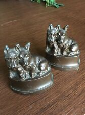 Scottie Dog NUART Brown Vintage BOOKENDS DOOR STOP CAST IRON METAL