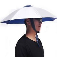 Foldable Headwear Sun Umbrella Hats Cap Hands Free For Fishing Hiking Beach