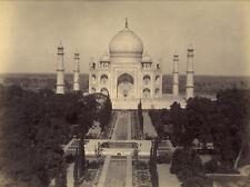 Photo Albuminé Taj Mahal Inde Vers 1870/80