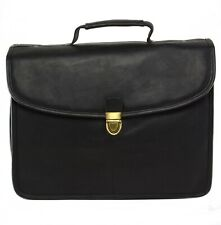 Hammer Anvil Belen Vacquetta Leather Briefcase Dressy Structured Flapover Buckle