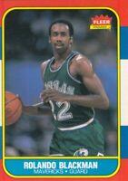1986-87 Fleer Basketball Rolando Blackman # 11 Dallas Mavericks