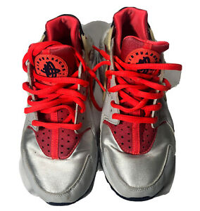 NIKE WOMAN Air Huarache Run Sneakers Grey Pink 634835-013 US Size 6.5