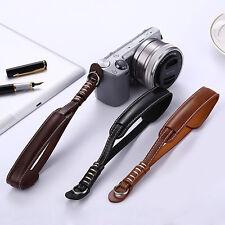 Fashion Leather Camera Hand Wrist Strap For Sony Samsung Panasonic Black