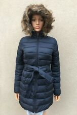 HOLLISTER Girls JACKET size SMALL navy blue NEW zip pockets hoodie FUR authentic