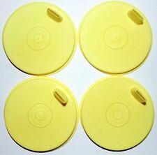 Tupperware Flat Sipper Sippy Seals Set of 4 Yellow G Bell Tumbler Lids 1552 Rare