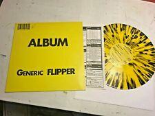 Flipper Generic Album LP +insert '81 '93 sf punk vinyl yellow black splatter col