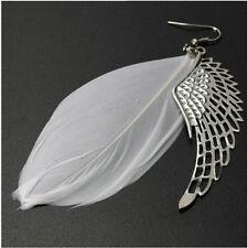 Hot Popular Angel Wing Feather Dangle Long Earring Women Chandelier Drop Earring