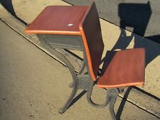 Antique Child School Desk with Folding Seat - Will Ship KDF Refinished