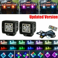 LED 72W Work Lamp RGB Halo Color Angel Eyes Changing Chasing Flowing Scaning Kit