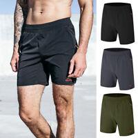 Men's Casual Sports Shorts Sweatpants Trackpants Zipper Pants Gym Jogger Fitness