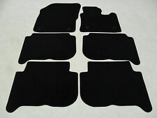 VW Touran 2007-2010 Fully Tailored Deluxe Car Mats in Black 6 x Piece - VW Round