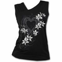Spiral Direct PURE OF HEART Womens, Lillie, Gothic, Slant Vest,Top, Clothing