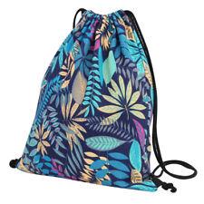 Drawstring String Canvas Backpack Cinch Sack Gym Pack Tote Bag School Sport