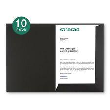 10 Stück Präsentationsmappen/Angebotsmappe in Schwarz für Ihre DIN A4-Dokumente