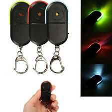 Wireless Anti-Lost Alarm Key Finder Locator Keychain LED Light Whistle Sound