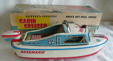 VINTAGE BOXED MARUSAN BATTERY OPERATED ROSEMARIE CABIN CRUISER IN WORKING ORDER