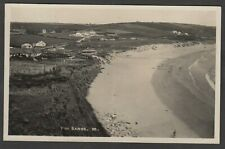 Postcard Praa Sands nr Helston Cornwall early view RP