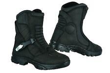 Raxid Adventure Waterproof Motorcycle Boots Touring Real Leather Motorbike Black