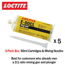 Loctite EA-Hysol E-00CL Clear Chemicalent Machinable Epoxy 50ml - 5-Pack