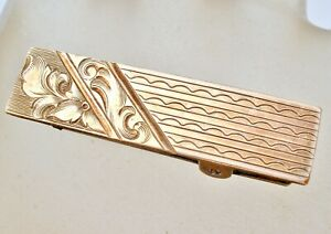 ART NOUVEAU GOLD FILLED ORNATE CLIP PIN SASH ORNAMENT LINGERIE JEWELRY
