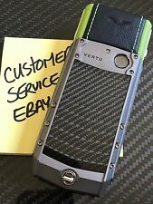 Genuine Vertu Ascent X Carbon Fiber LIME Black a must own Super RARE Brand NEW