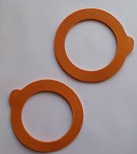 Kilner Jar Replacement Rubber Seals Orange fit 0.35,0.5,1,1.5,2 Ltr Clip Top