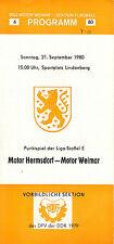 DDR-Liga 80/81 BSG Motor Weimar-BSG Motor Hermsdorf 21.09.1980