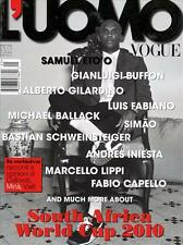 Vogue L'Uomo Magazine 5/10 Soccer Africa WORLD CUP 2010