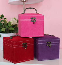 New Cosmetic Storage Display Gift Case Jewellery Boxes Square Heart Handle