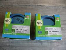 Two Boxes Ball Wide Mouth Blue Lids & Bands BPA Free Color Series Elite 18 Sets
