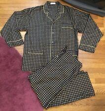 Men's Bullock & Jones San Francisco Blue w/ Metallic Print Pajama Set XXL ITALY