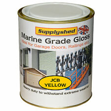 Supplyshed GLOSS JCB YELLOW GARAGE DOOR PAINT for Fibreglass and Metal 750ml
