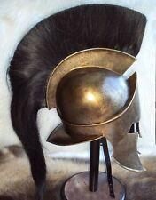 Spartan King Leonidas 300 Movie Helmet Replica with Leather cap for larp prop re