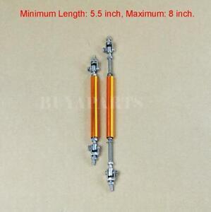 Gold Splitter Rod Strut Tie Bar Support Rods for Bumper Lip Diffuser Air Dam