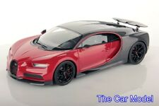 Bugatti Chiron Sport with Open Wing Grey Carbon/Italian Red, Ltd 149 pcs MR 1/18