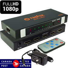 5-Port HDMI Switch Switcher Selector Splitter +Remote; Connect 5 devices to HDTV