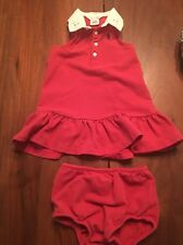 Ralph Lauren Eyelet Collar Polo Dress 12 Month