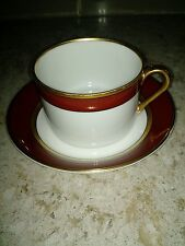 Fitz & Floyd Inc. Renaissance Cinnabar Burgundy Coffee Cup & Saucer