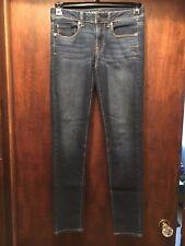 EUC American Eagle Super Skinny Denim Jeans Super Stretch Dark Wash Size 2 28X30