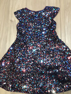 Mini Boden Roald Dahl Charlie And The Chocolate Factory Sequin Dress 5-6 Years