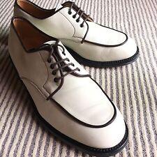 To Boot New York Adam Derrick Contrast Piping Bone/Brown 10 Men Dress Shoes