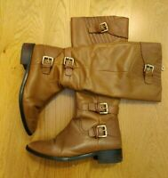 MICHAEL KORS STUNNING BROWN LEATHER HIGH RIDING BOOTS UK 4 EU 37 US 7