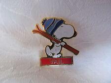 VAIL Vintage 80's Snoopy Lapel Hat Pin Ski Resort Snow Sports SP005