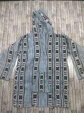 Mexican BAJA HOODIE Poncho Surf Pullover Jacket PRIDE Unisex Size L Drug Rug