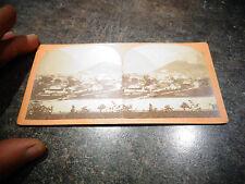 Ancienne Photographie Relief Visionneuse Suisse Interlaken et la Jungfrau