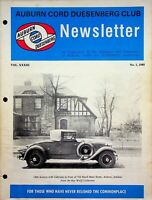 Vintage Auburn Cord Duesenberg Club Newsletter Magazine Vol 33 1985 No. 1 m888