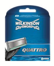 Wilkinson Sword Quattro Rasierklingen 8 Pack Herren Rasierer Nachfüllungen echt