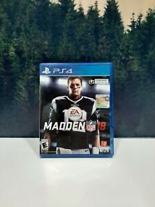Madden 18 Sony PlayStation 4 PS4 NFL Tom Brady Football Game