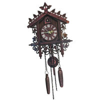 Antique Wood Cuckoo Wall Clock with Pendulum for Home Office Hotel Decor #1